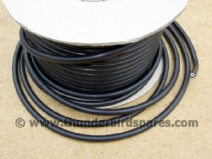 HT Lead, Black, Copper Cored, Units of 2 feet (61cm), 7mm diameter, UK made.